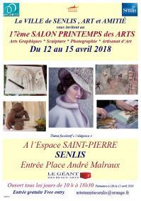 Affiche Salon printemps des Arts Sentis 2018