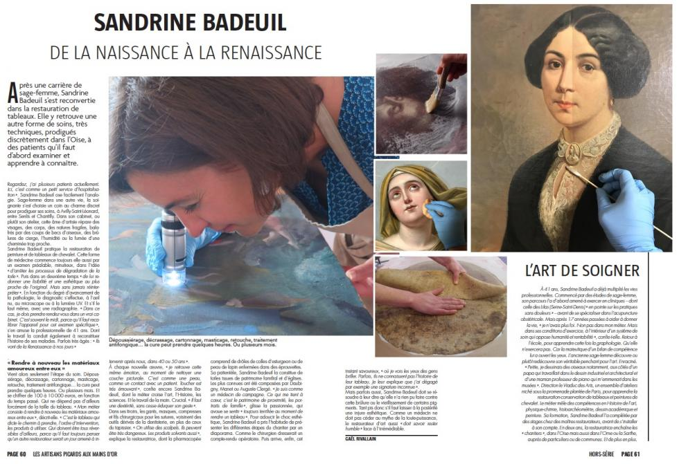 Article Atelier Badeuil hors-sérier Courrier Picard 2018
