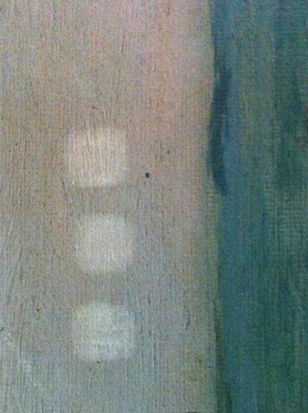 Tests de nettoyage Restauration tableaux Atelier Badeuil