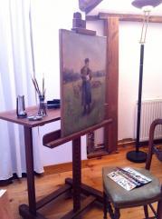Atelier Badeuil Tableau en cours de retouche