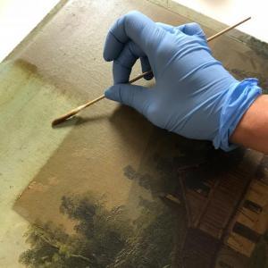 Décrassage Atelier Badeuil Restauration de tableaux