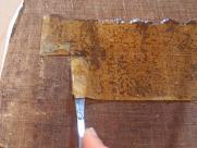 Nettoyage du revers d'une toile
