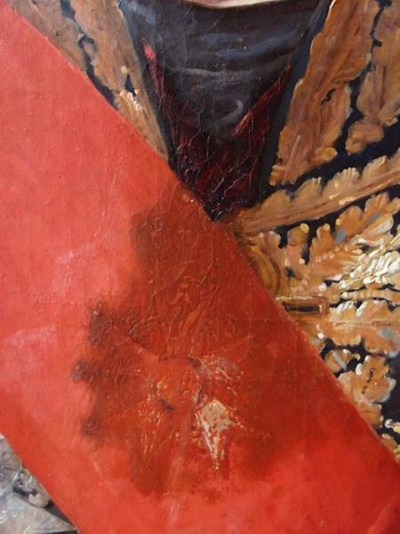 Retrait repeint Restauration tableaux Atelier Badeuil