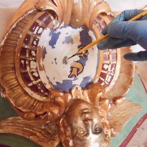 Refixage sculpture polychrome Atelier Badeuil